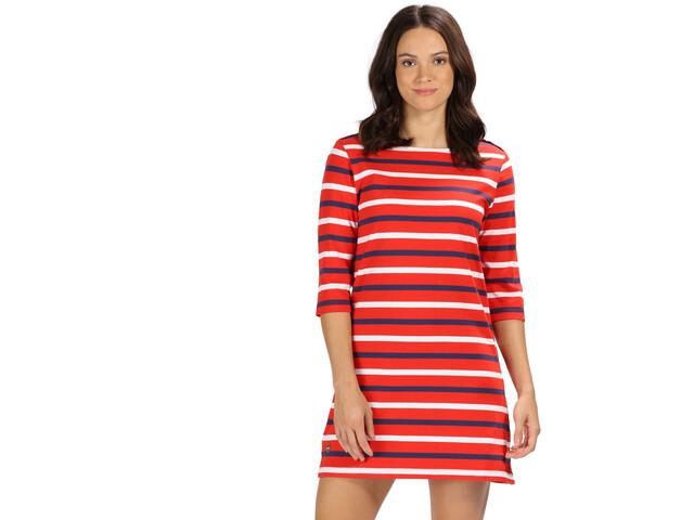 Regatta Harlee Dress Women fiery red stripe